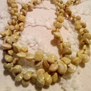 Vintage Moon Shell Necklace